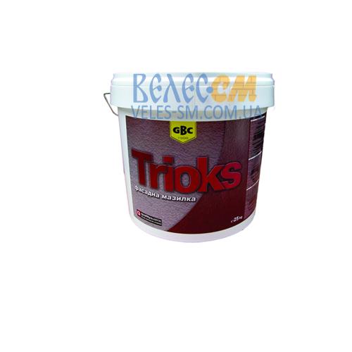 Фасадное защитное декоративное покрытие GBC Trioks cиликоновое / силикатное, барашек / короед (25 кг)