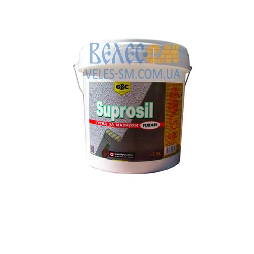 Акриловая грунтовка GBC Suprosil для штукатурки (15 л, дает рельеф поверхности)