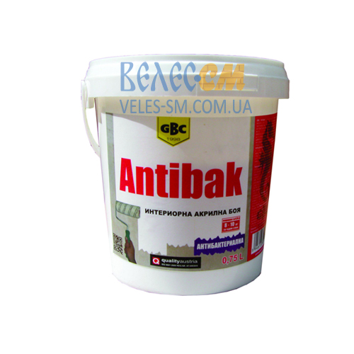 Антибактериальная интерьерная краска GBC Antibak (15 л)