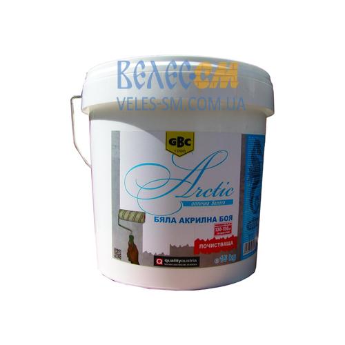 Акриловая интерьерная белая краска GBC Arctic (15 л)