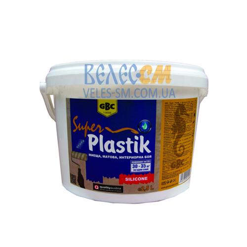Матовая декоративная краска GBC Super Plastik на акриловой основе (7.5 л)