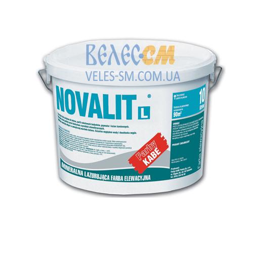Лессировочная фасадная краска полисиликатная NOVALIT L (5 л)