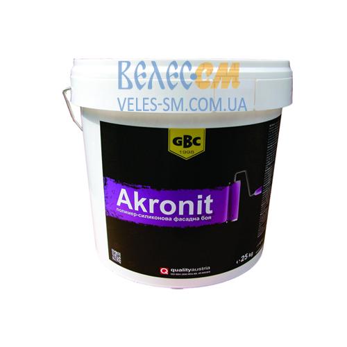Силиконовая фасадная краска GBC Akronit (15 л)