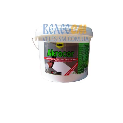 Готовая стартовая шпатлевка GBC Akrocor (25 кг)
